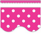 Hot Pink Polka Dots Scalloped Border Trim