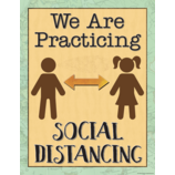 Travel the Map We are Practicing Social Distancing Chart
