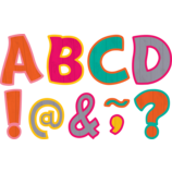 """Tropical Punch Funtastic Font 3"""" Magnetic Letters"""