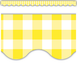 Yellow Gingham Scalloped Border Trim