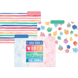 Watercolor File Folders