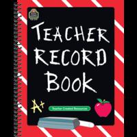 Chalkboard Teacher Record Book