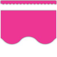 Hot Pink Scalloped Border Trim