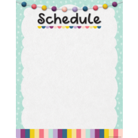 Oh Happy Day Schedule Write-On/Wipe-Off Chart