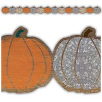 Home Sweet Classroom Pumpkins Die Cut Border Trim