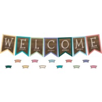 Home Sweet Classroom Pennants Welcome Bulletin Board Display Set