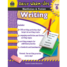 TCR3979 Daily Warm-Ups: Nonfiction & Fiction Writing Grade 6