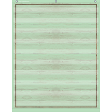 Mint Green Painted Wood 10 Pocket Chart