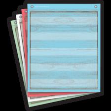 Painted Wood Magnetic Mini Pocket Charts