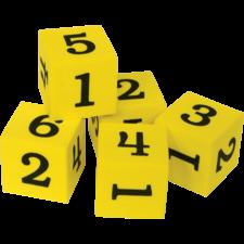Foam Numbered Dice (numerals 1-6)