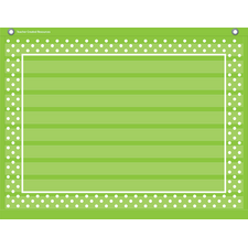Lime Polka Dots Mini Pocket Chart