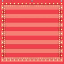 Red Marquee 7 Pocket Chart