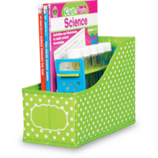Lime Polka Dots Book Bin