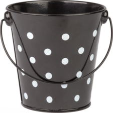 Black Polka Dots Bucket