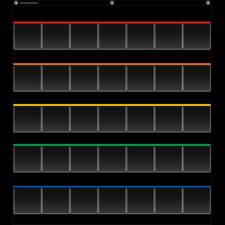 Black Storage Pocket Chart