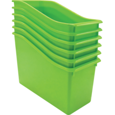 Lime Plastic Book Bin 6 Pack