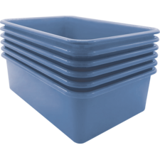 Slate Blue Large Storage Bin 6 Pack