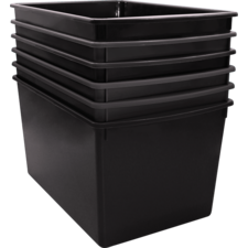 Black Plastic Multi-Purpse Bin 6 Pack