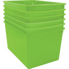 Lime Plastic Multi-Purpose Bin 6 Pack