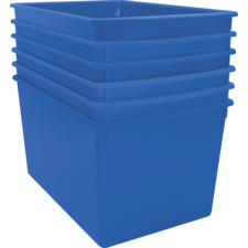 Blue Plastic Multi-Purpose Bin 6 pack