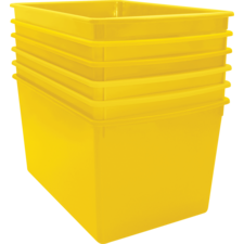 Yellow Plastic Multi-Purpose Bin 6 Pack
