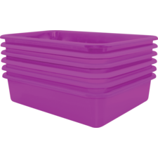 Purple Large Plastic Letter Tray 6 Pack