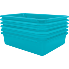 Teal Large Plastic Letter Tray 6 Pack