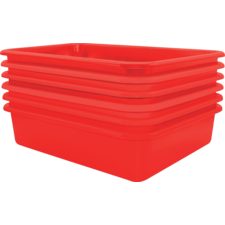 Red Large Plastic Letter Tray 6 Pack