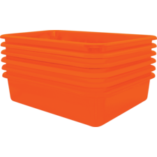 Orange Large Plastic Letter Tray  Pack