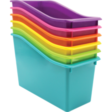 Brights Plastic Book Bins Set of 6