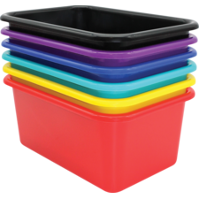Bold Colors Small Plastic Storafe bins Set of 6
