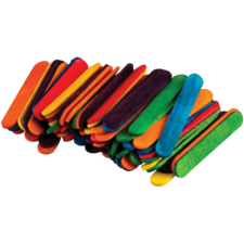 STEM Basics: Multicolor Mini Craft Sticks - 100 Count