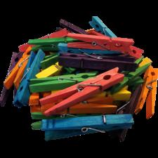 STEM Basics: Multicolor Clothespins - 50 Count
