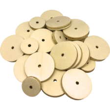 STEM Basics: Wooden Wheels - 60 Count