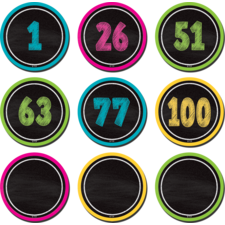 Chalkboard Brights Number Cards