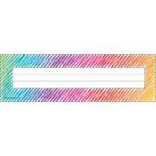 Colorful Scribble Flat Name Plates