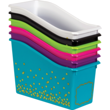 Assorted Confetti Book Bins Set 6-Pack