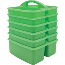 Mint Plastic Storage Caddies 6-Pack
