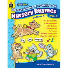 Full-Color Literacy Centers & Activities for Nursery Rhymes Volume 1