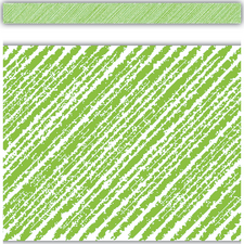 Lime Scribble Straight Border Trim