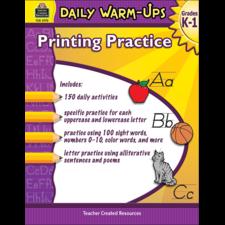 Daily Warm-Ups: Printing Practice Grades K-1