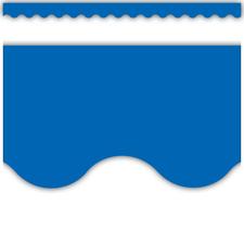 Blue Scalloped Border Trim