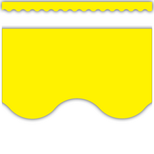 Yellow Scalloped Border Trim