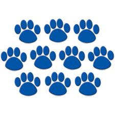 Blue Paw Prints Accents