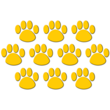 Gold Paw Prints Accents