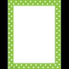 Lime Polka Dots Computer Paper