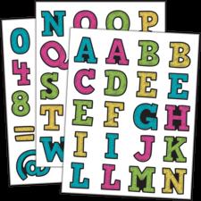 Chalkboard Brights Alphabet Stickers