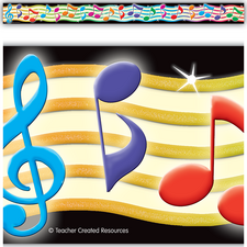 Musical Notes Straight Border Trim