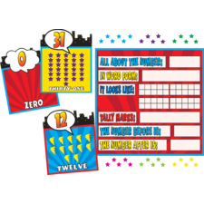 Superhero Countng 0-31 Bulletin Board Display Set