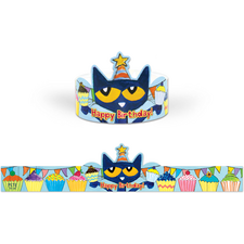 Pete the Cat Happy Birthday Crowns